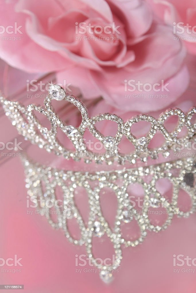 Pageant crown stock photo