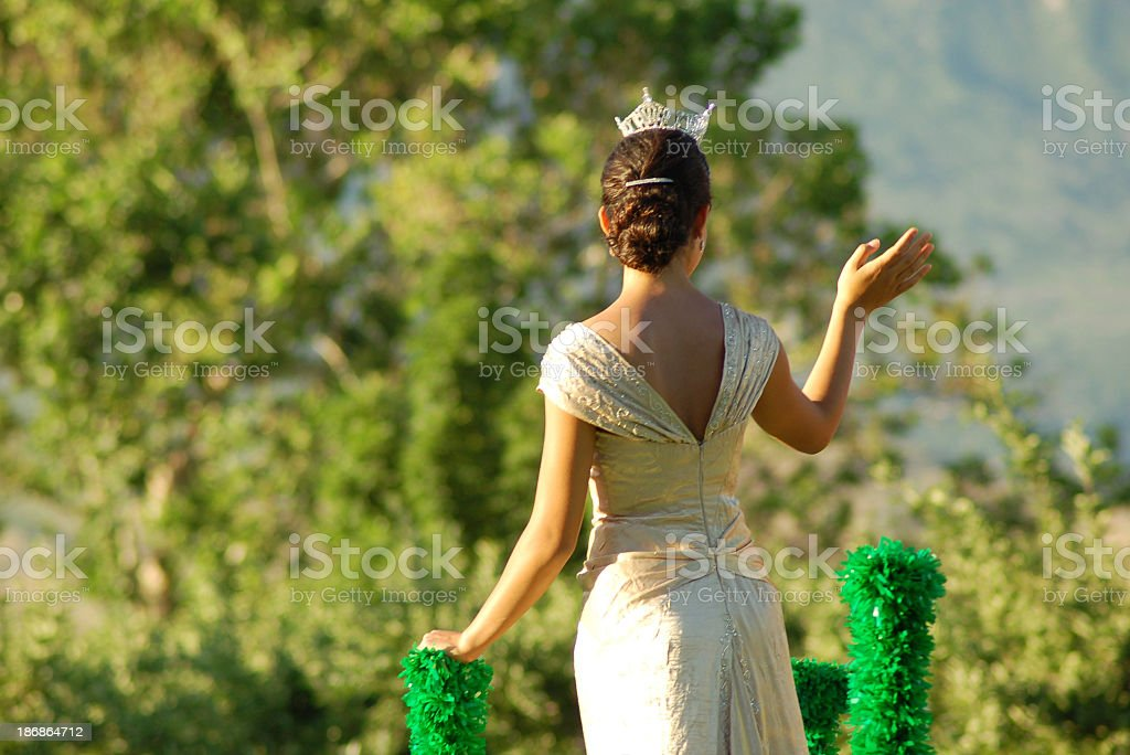Pageant Queen on Float royalty-free stock photo