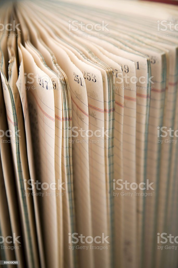 Pages 2 stock photo