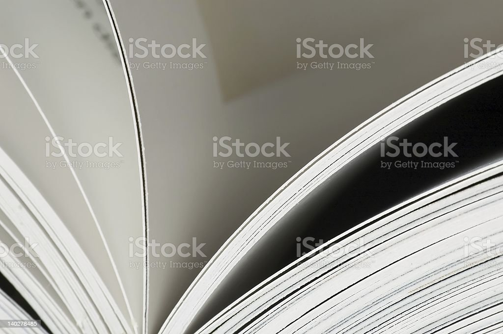 Pages in a book royalty-free stock photo