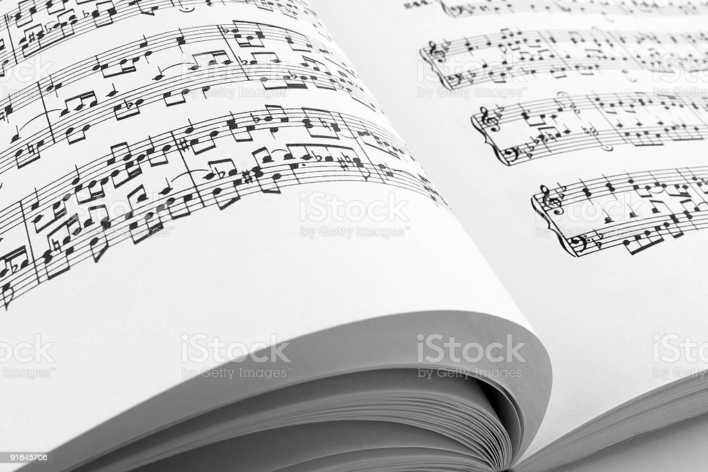 Pages of a music book royalty-free stock photo