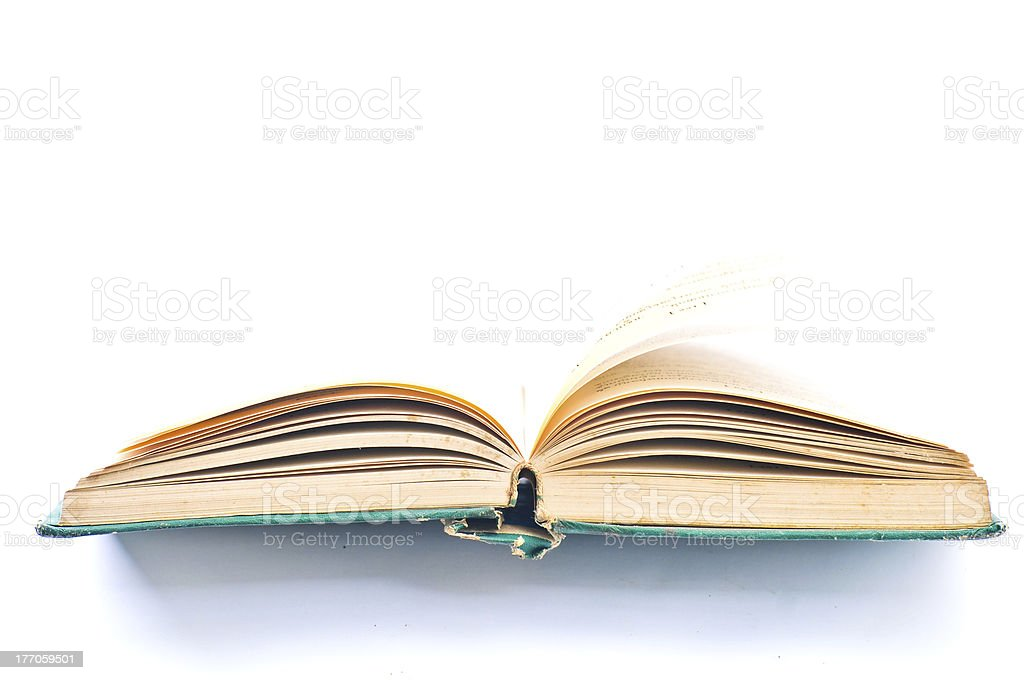 Pages of a old book royalty-free stock photo