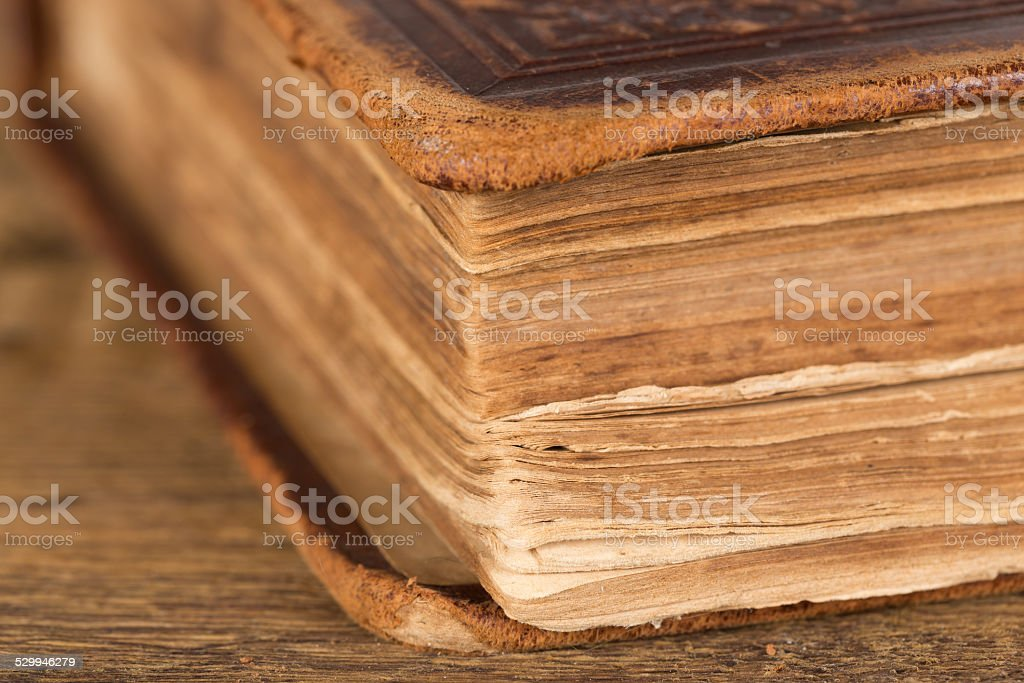 Pages of an old book stock photo