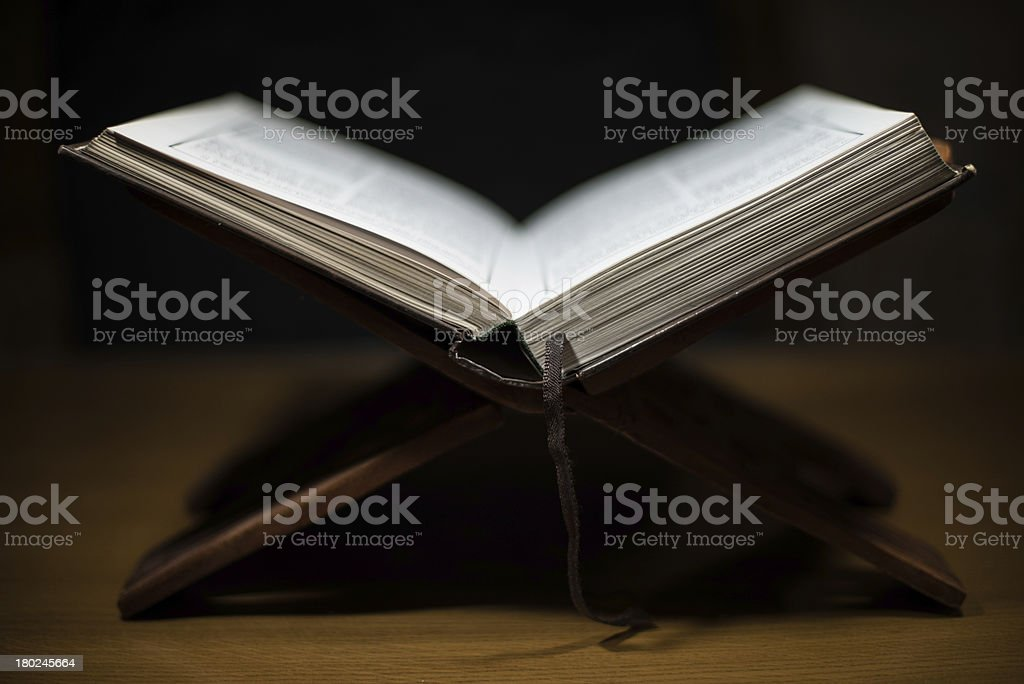 pages of holy koran the testament stock photo