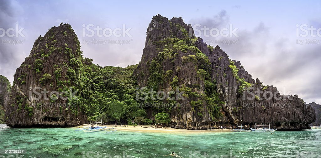 Paglugaban Island, Philippines stock photo