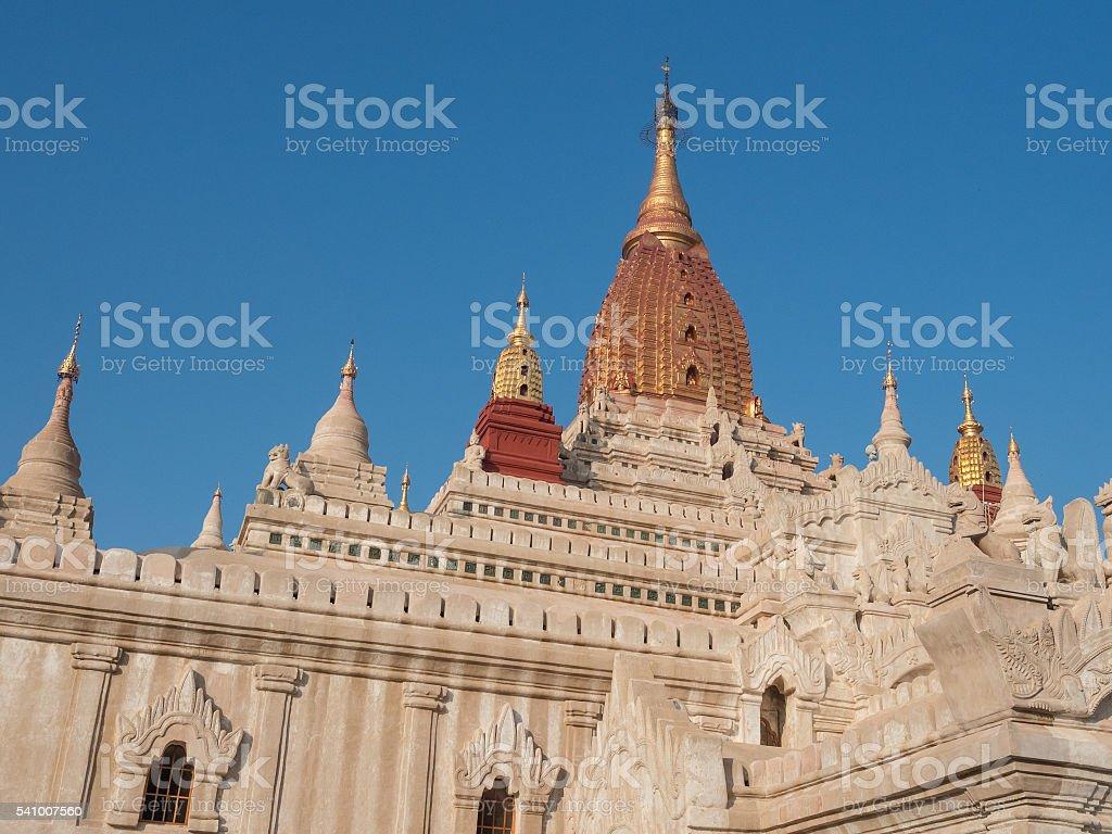 Pagoda at Ananda temple, Bagan stock photo