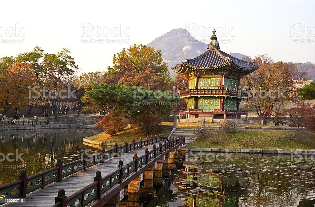 Pagoda at sunset. stock photo