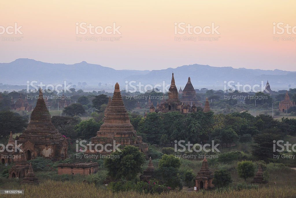Bagan pagoda,Myanmar royalty-free stock photo