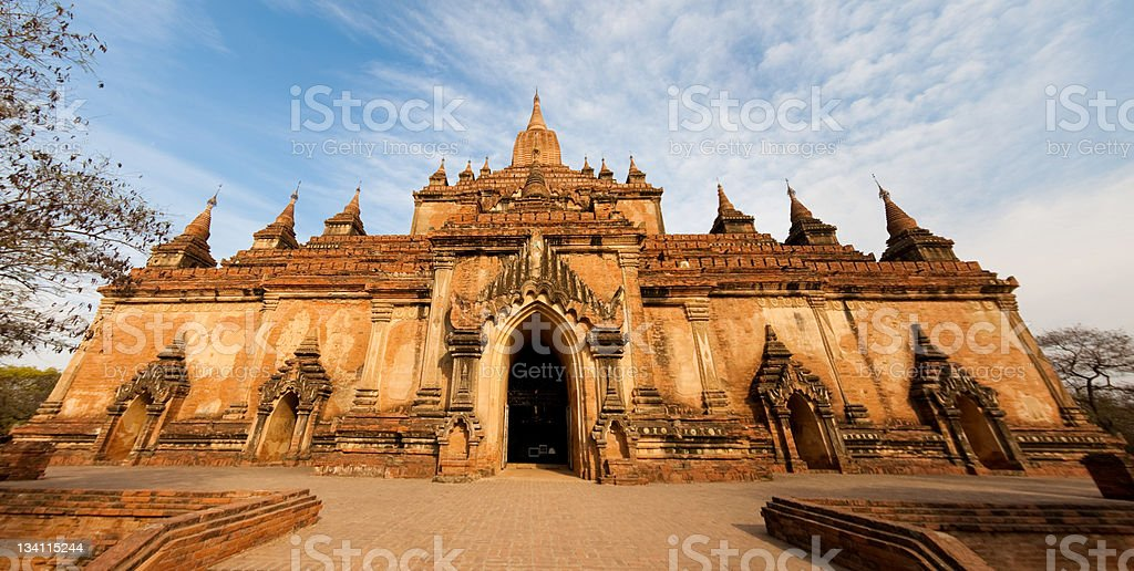 Pagoda in Bagan, Myanmar royalty-free stock photo