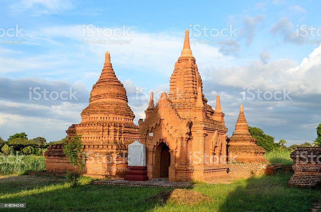 Pagoda in Bagan stock photo