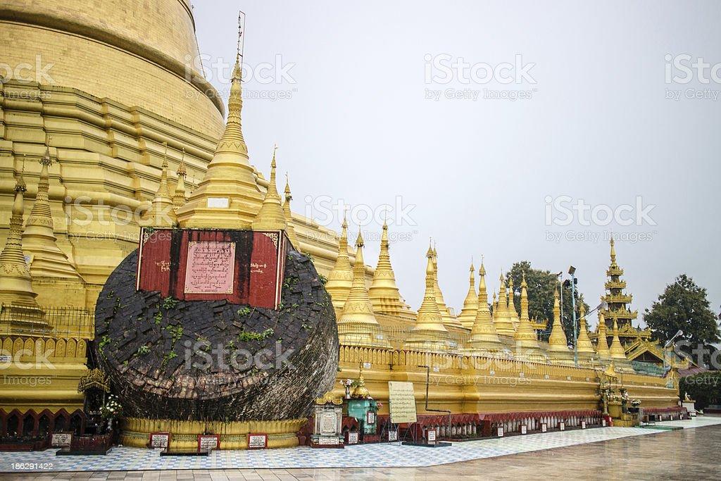Pagoda in Bago, Myanmar royalty-free stock photo