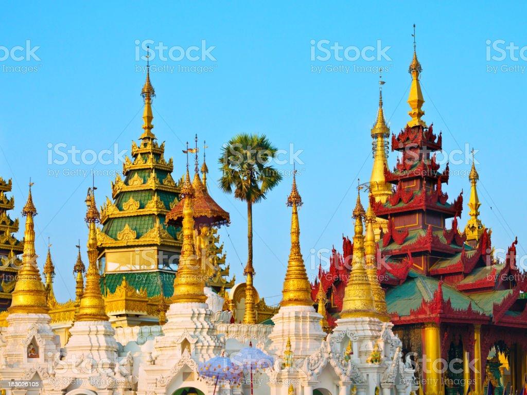 Pagoda in  Burma royalty-free stock photo