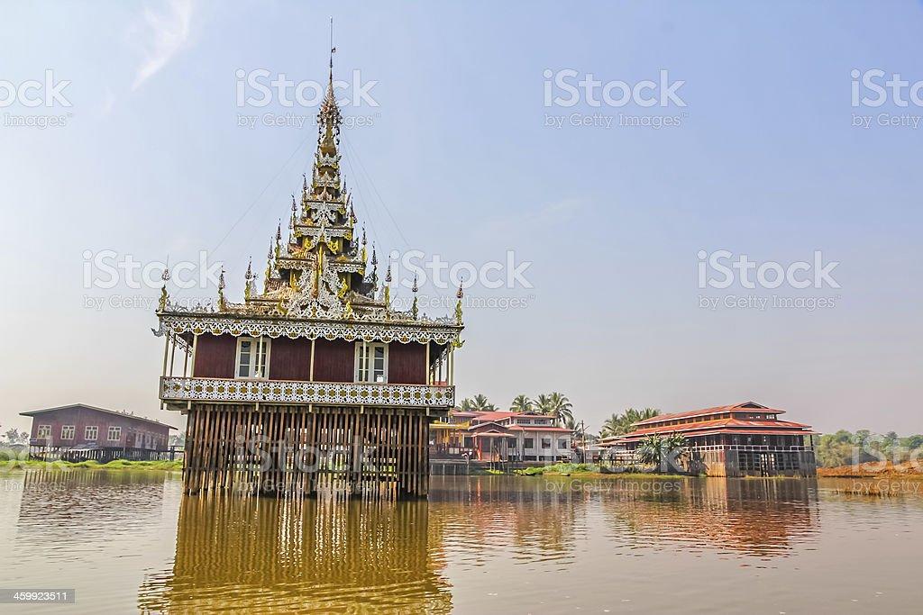 Pagoda in Inle lake, Myanmar. royalty-free stock photo