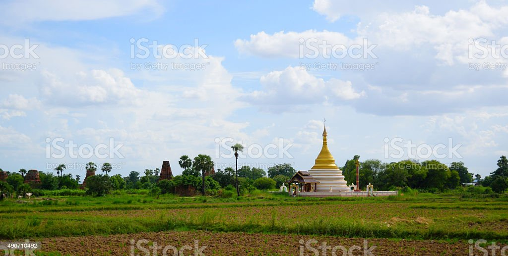 Pagoda in Myanamar stock photo
