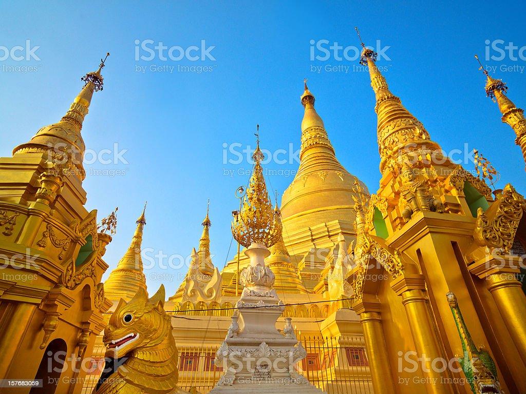 Pagoda in Myanmar stock photo