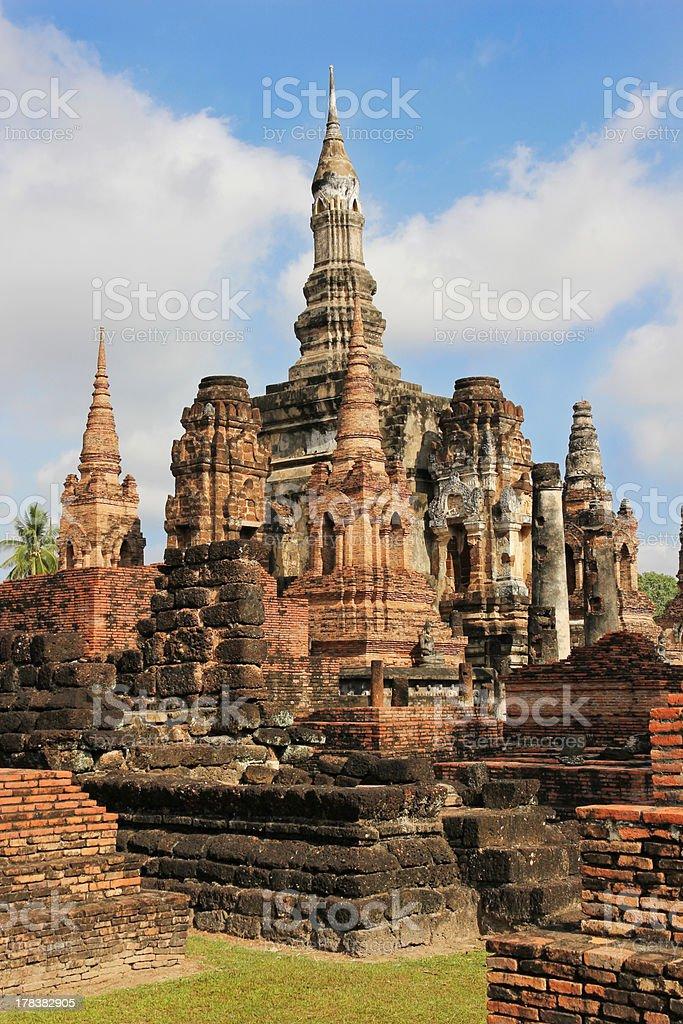 Pagoda in Ruins stock photo