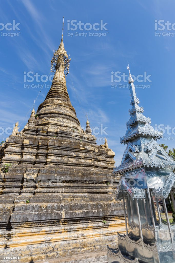 pagoda in thai temple 2 stock photo