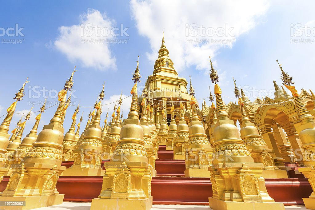 Pagoda in Wat-Sawangboon royalty-free stock photo