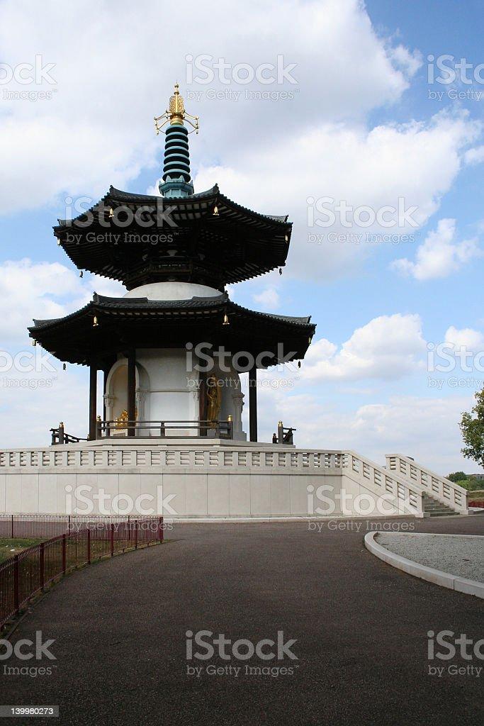 Pagoda of Battersea Park - London stock photo