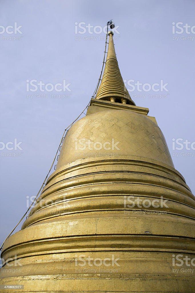 Pagoda of Golden Mount, Wat Saket, Bangkok royalty-free stock photo
