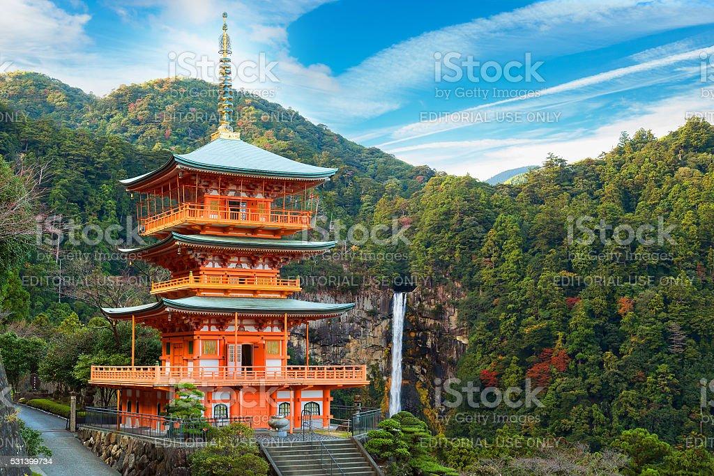 Pagoda of Seiganto-ji Temple in Wakayama, Japan stock photo