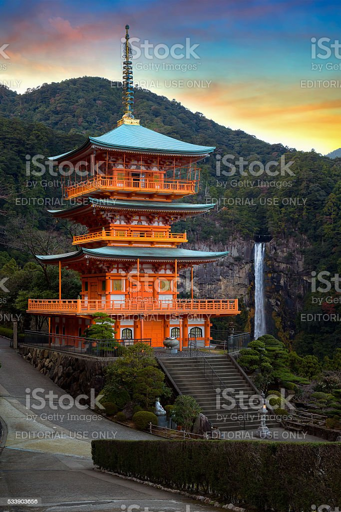 Pagoda of Seiganto-ji Temple in Wakayama, Japan stock photo