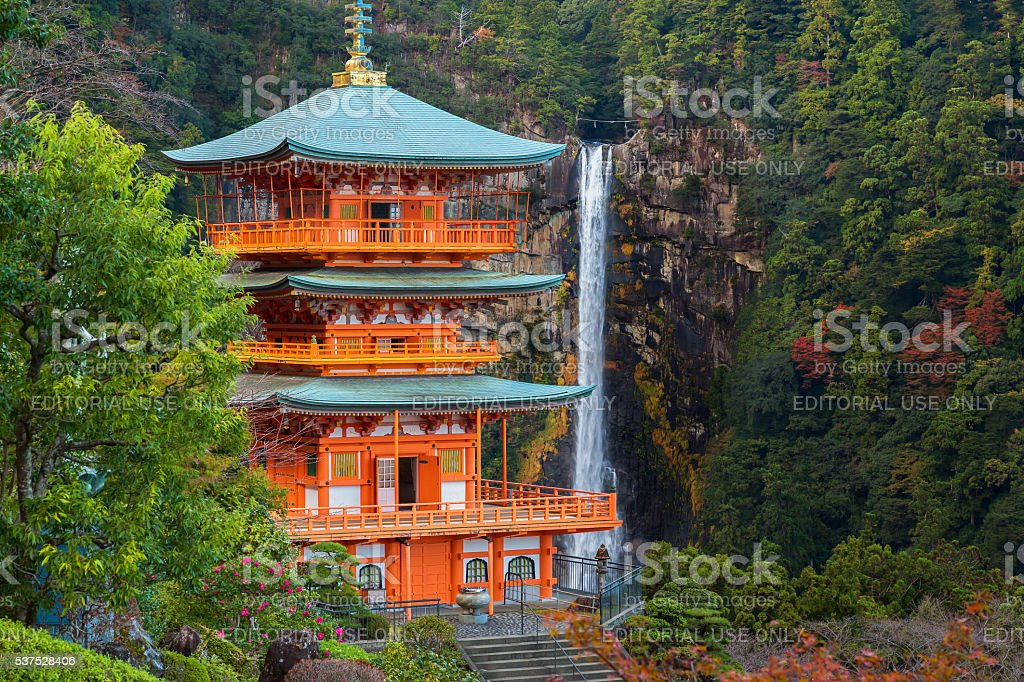 Pagoda of Seiganto-ji Temple stock photo