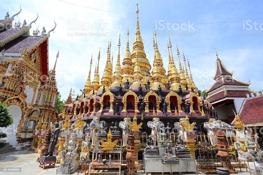 Pagoda of Wat Phra That Suthon Mongkol Khiri Temple stock photo