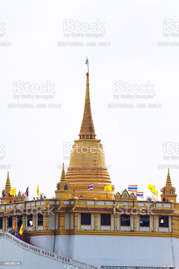 Pagoda of Wat Saket stock photo