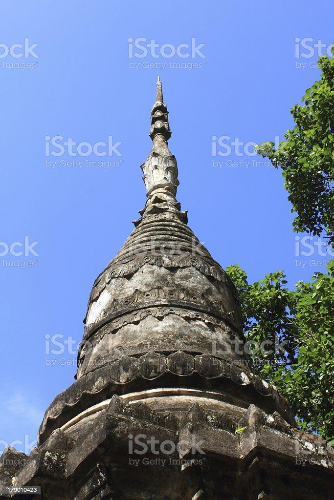 Pagoda  of  Wat wang mu,Thailand. royalty-free stock photo