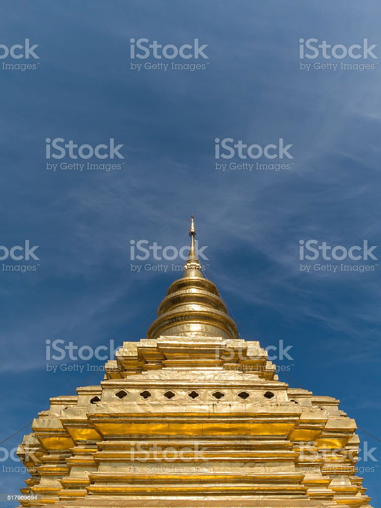Pagoda or Chedi in Chiangmai, Thailand stock photo