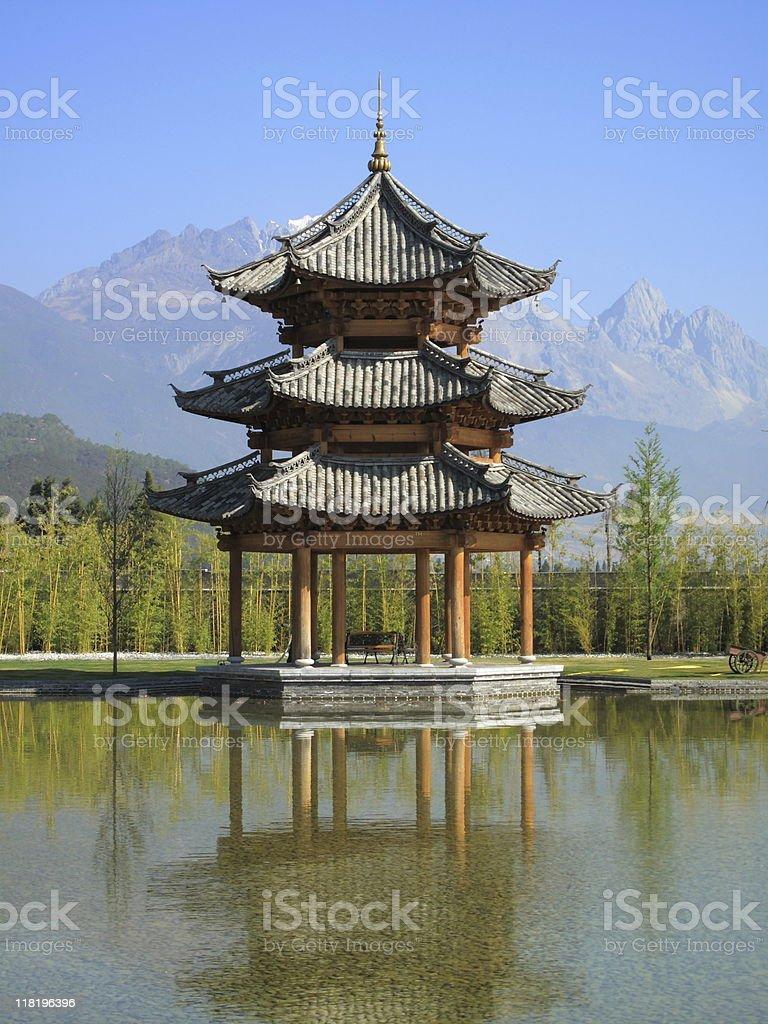Pagoda, Pavilion, Gazebo royalty-free stock photo