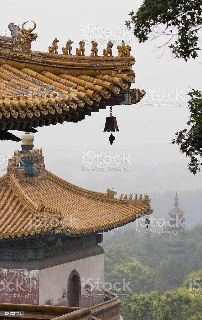 Pagoda roofs stock photo