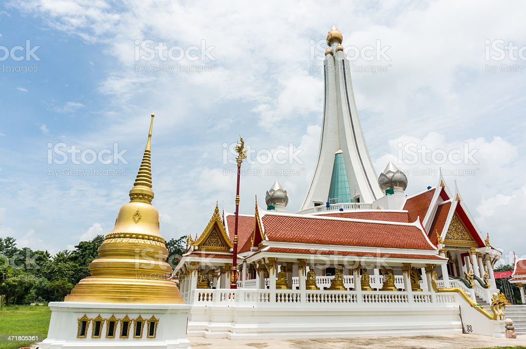 pagoda surface at temple in Thailand royalty-free stock photo
