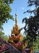 Pagoda Top Seen Through Green Trees