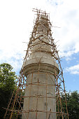 Pagoda under construction, Temple in Thailand