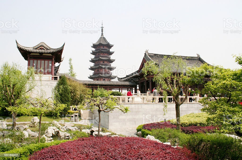 Pagoda view royalty-free stock photo