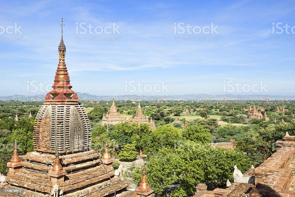 Pagodas at Bagan - Myanmar royalty-free stock photo