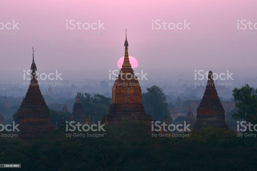 Pagodas , Bagan, Myanmar royalty-free stock photo