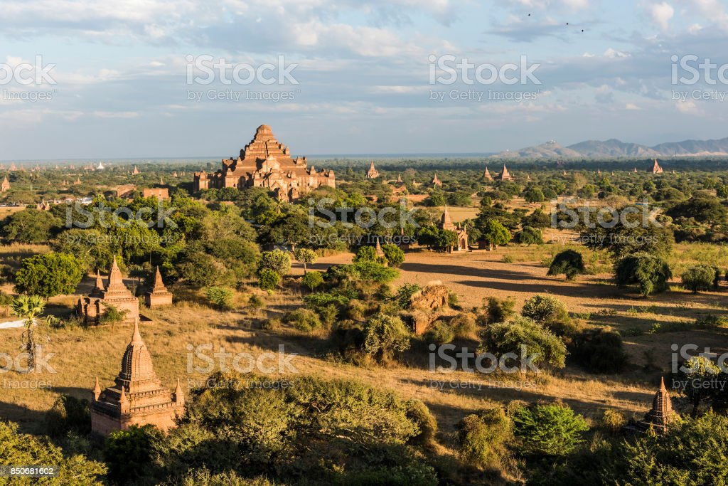 Pagodas in Bagan stock photo