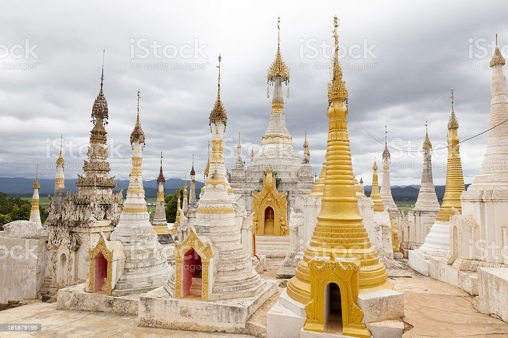 Pagodas in Myanmar royalty-free stock photo