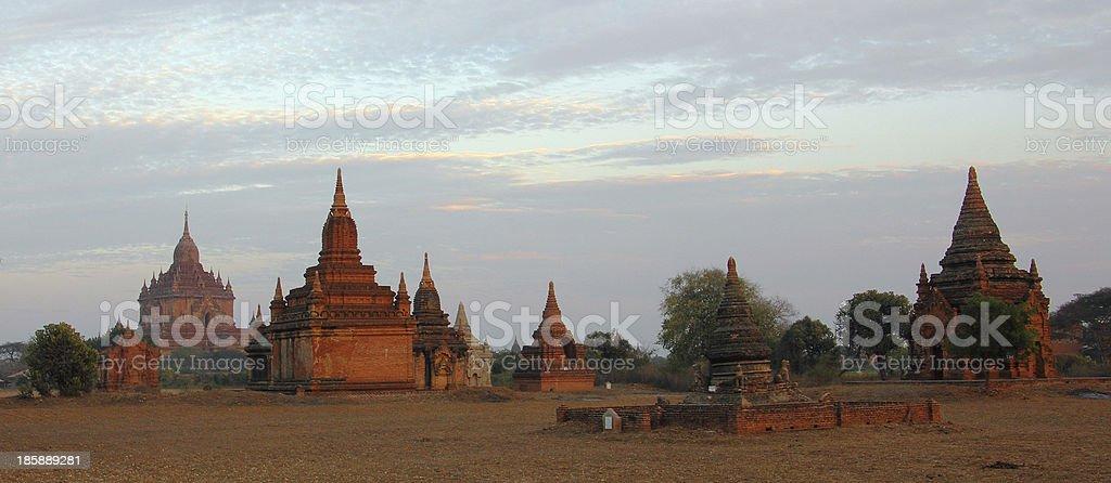 pagodas of Bagan royalty-free stock photo