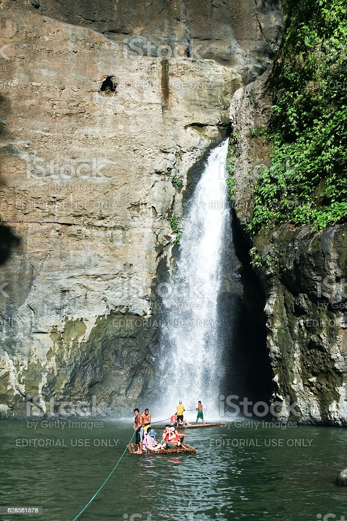 Pagsaŋjan falls river trip laguna philippines royalty-free stock photo