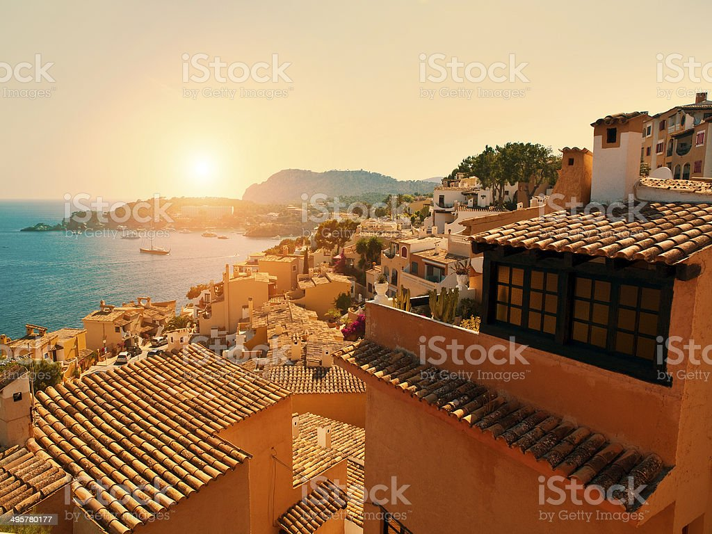 Paguera Rural Village and Cala Fornells, Majorca stock photo