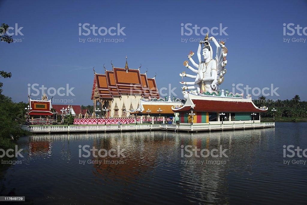 Pai Laem Temple Thailand stock photo