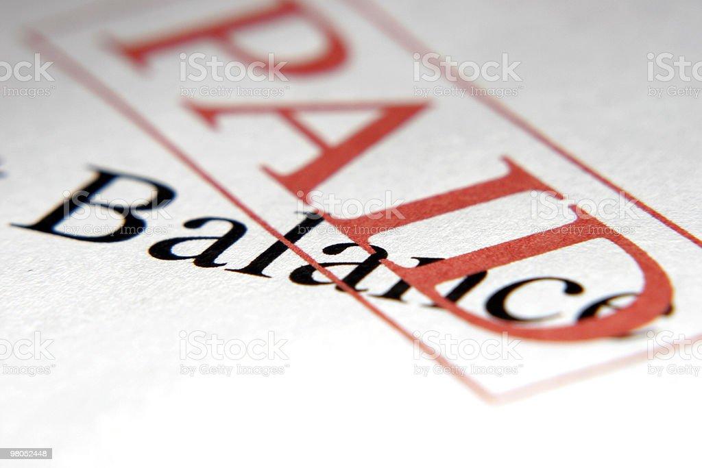 Paid Balance stock photo