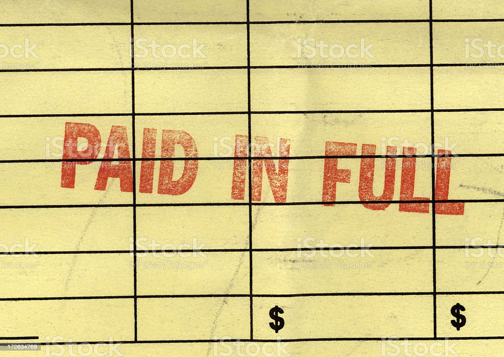 paid in full stock photo
