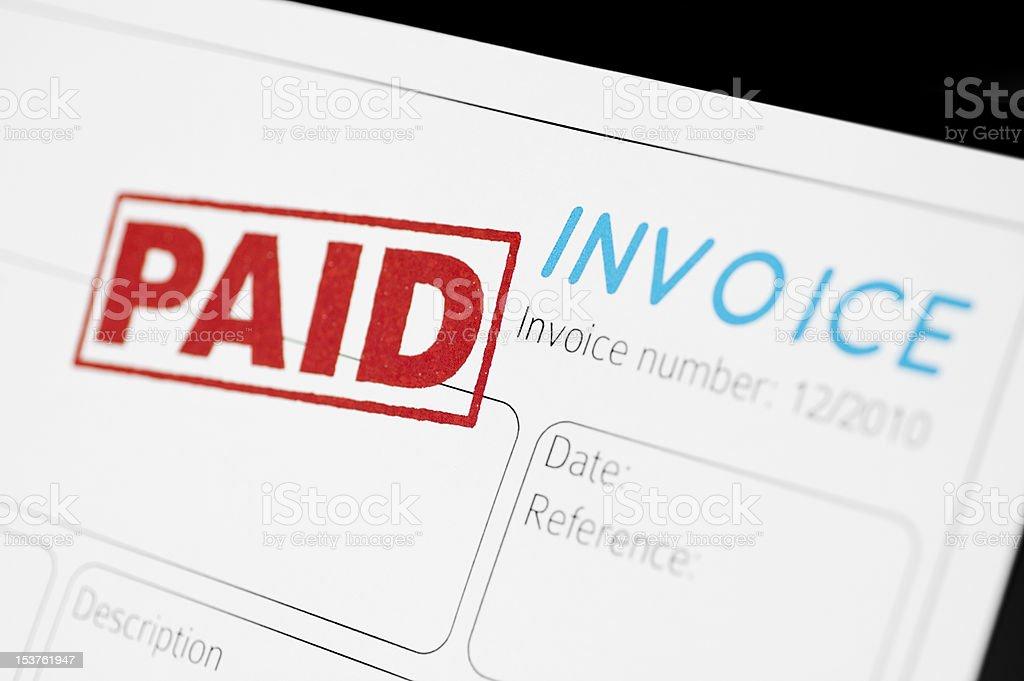 Paid Invoice stock photo