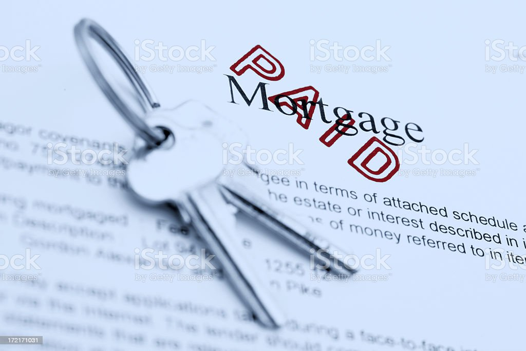 Paid Mortgage stock photo