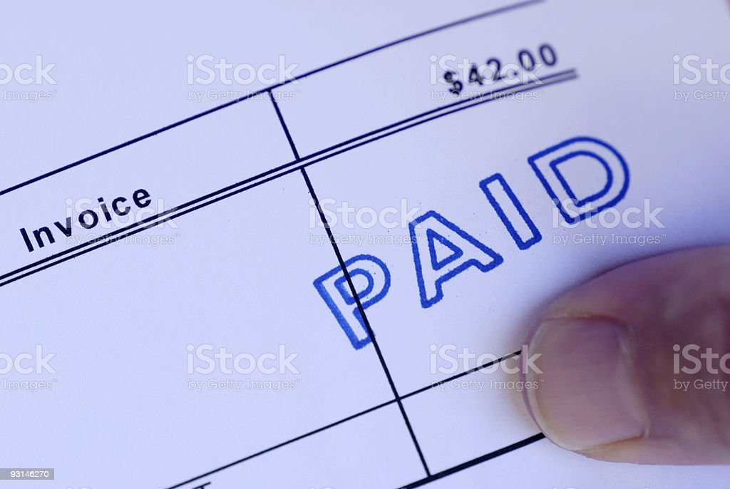 Paid royalty-free stock photo